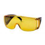 Защитные очки с дужками желтые, С1008