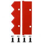Нож сменный двухзаходного шнека для грунта DDE (300 мм)(120х32х4мм, плоский) (пара)