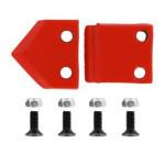 Нож сменный двухзаходного шнека для грунта DDE (100 мм)(30х30х4 мм, плоский) (пара)
