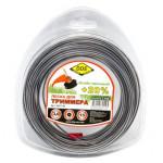 """Леска для триммера Hard line"""" (круг армированный) 3,0 мм х 15 м, серый/красный"""