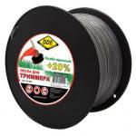 """Леска для триммера Hard line"""" (круг армированный) 2,4 мм х 180 м, серый/красный"""