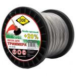 """Леска для триммера Hard line"""" (круг армированный) 2,0 мм х 126 м, серый/красный"""