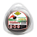 """Леска для триммера Hard line"""" (круг армированный) 2,7 мм х 15 м, серый/красный"""