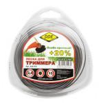 """Леска для триммера Hard line"""" (круг армированный) 2,4 мм х 15 м, серый/красный"""