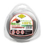 """Леска для триммера Hard line"""" (круг армированный) 2,0 мм х 15 м, серый/красный"""