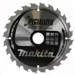 Диск пильный Makita, 165х20х2,0мм,24 зуб,для дерева с гвоздями B-29175