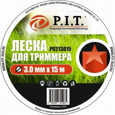 Леска для триммера (3,0мм х 15м. звезда.) картон P.I.T(Р0213015)