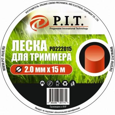 Леска для триммера (2,0мм х 15м. кругл.) картон P.I.T.(Р0222015)
