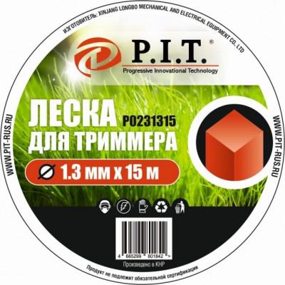 Леска для триммера (1,3мм х 15м. квадр.) картон P.I.T.(Р0231315)