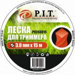 Леска для триммера (3,0мм х 15м. кручен.) картон P.I.T.(Р0243015)