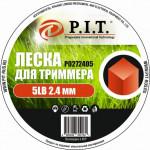 Леска для триммера 5LB (2,4,2.25кг, квадр. 389,25м) бухта P.I.T.(Р0272405)