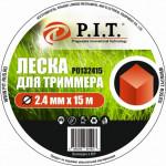 Леска для триммера (2,4мм х 15м. квадр.) блистер P.I.T.(Р0132415)