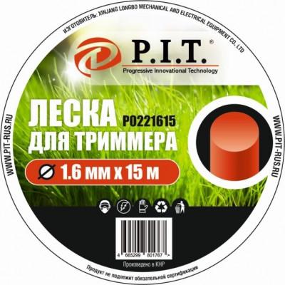 Леска для триммера (1,6мм х 15м. кругл.) картон P.I.T.(Р0221615)