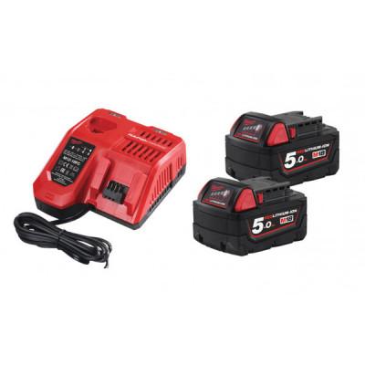 Комплект аккумулятор и зарядное устройство Milwaukee M18 NRG-502