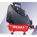 Компрессор Pegas безмасляныйHSOL195/6Производительность 180 л/мин, тип-поршневой ,прямой привод,мощность 1,5 кВт, объем ресивра 6 л , максимальное давлен