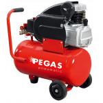 Компрессор Pegas масляный PG-2025Производительность 227 л/мин, тип-поршневой ,прямой привод,мощность 2 кВт, объем ресивра 24 л , максимальное давле
